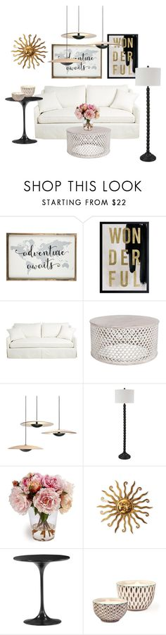 """Living Room 2"" by ellakatykat ❤ liked on Polyvore featuring interior, interiors, interior design, home, home decor, interior decorating, Oliver Gal Artist Co., Signature Design by Ashley, Bambeco and living room"