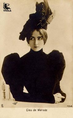 """Largely forgotten today, at the height of her popularity, Belle Époque dancer Cléo de Mérode (1875–1966) was an international sensation, perhaps the most photographed woman in the world or, at least, the woman whose image was most widely and abundantly reproduced. . . .through the new visual medium the """"POSTCARD."""""""