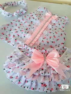Our little girl clothing & infant clothing are super lovely. Baby Girl Dress Design, Baby Girl Dress Patterns, Baby Frocks Designs, Kids Frocks Design, Kids Dress Wear, Little Girl Dresses, Baby Bloomers, Cute Baby Clothes, Baby Girl Fashion