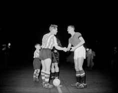 1958. 3-0 against Sheffield Wednesday at Old Trafford. First game after Munich. Bill Foulkes and Albert Quixall