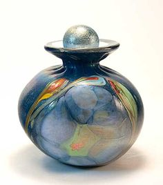 Cremation urn by Tom Michael, Odyssey Art Glass - www.TomMichael.com