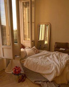 Room Ideas Bedroom, Bedroom Decor, Mirror Bedroom, Wall Decor, Aesthetic Room Decor, Beige Aesthetic, Dream Apartment, Dream Rooms, My New Room