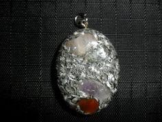 Ciondolo Talismano in orgonite PRANA KI a forma Ovale (3)