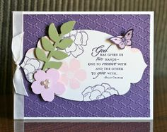 Stampin' Up! Trust God by Krystals Cards and More: Elegant Blessings Card Class