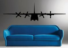 R's room - C 130 Military Army Airplane Wall Sticker Vinyl Decal 2