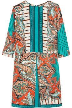 Etro Printed silk mini dress | NET-A-PORTER