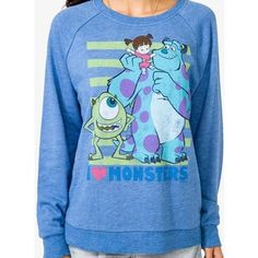 """Lion King Sweater Forever 21   FOREVER 21 """"I Love Monsters"""" Distressed Pullover"""