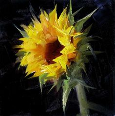"""Sunflower Study 5"" - Original Fine Art for Sale - © Qiang Huang"