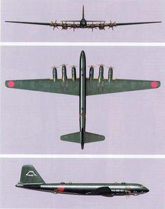 """JA strategic bombers: Nakajima G10N Fugaku, G8N Renzan N-40 """"Rita""""& Nakajima G5N1 Shinzan(Liz)"""