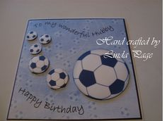 Footballing card for a husband