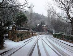 """""""Nieve en las calles de Guadalajara"""". Foto: Enrique Mateo."""