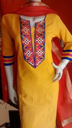 Chudidhar Neck Designs, Dress Neck Designs, Sleeve Designs, Blouse Designs, Simple Pakistani Dresses, Pakistani Fashion Casual, Pakistani Dress Design, Cutwork Saree, Kurta Patterns