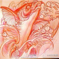 Carp Tattoo, Koi Fish Tattoo, Koi Tattoo Design, Tattoo Designs, Tattoo Ideas, Asian Tattoos, Colour Tattoo, Japanese Tattoo Art, Pottery Sculpture