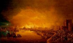 The Fire of London, September 1666, by an unknown artist, from Samuel Pepys: Plague, Fire, Revolution