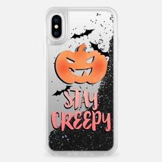 Casetify iPhone X Liquid Glitter Case - Stay Creepy by Emanuela Carratoni