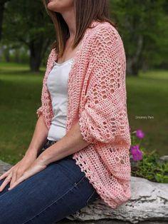 Crochet Cocoon, Free Crochet, Knit Crochet, Crochet Summer, Crochet Shrugs, Crochet Sweaters, Crotchet, Crochet Baby, Crochet Cardigan Pattern