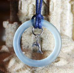 Charity Item Dolphin Charm with Recycled Bottle Ring Benefits Ric O'Barry's The Dolphin Project by GreyGyrl, $20.00