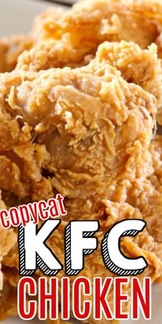 This Keto friendly copycat KFC Chicken Recipe is made with 11 herbs and spices and is baked, not fried! It's our favorite copycat recipe for Original Kentucky Fried Chicken. Kentucky Fried Chicken Recipe Copycat, Kfc Chicken Recipe Copycat, Kentucky Chicken, Chicken Strip Recipes, Fried Chicken Recipes, Kfc Chicken Strips Recipe, Chicken Tenders, Kfc Bowls Recipe, Recipe Spice