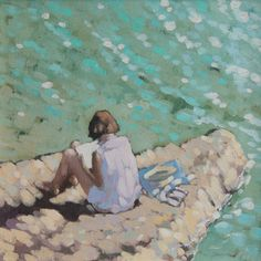 """Gordon Hunt; """"A quiet read on a summer's day"""""""