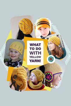 Crochet projects using yellow yarn! So Cute!