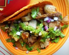 Pork Carnitas Tacos HispanicKitchen.com