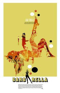 Barbarella 11x17 inch poster by TheArtOfAdamJuresko on Etsy, $22.00