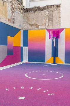 basketball color art street pattern #site:exteriorism.com