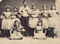 Hawaiian Women 1800 | Hula dance class, late 1800s | circa 1800's | Pinterest