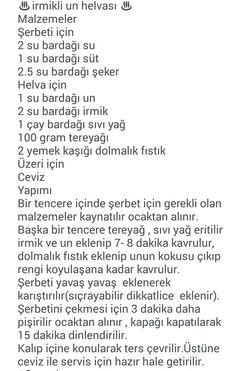 İRMİKLİ UN HELVASI Turkish Recipes, Cheesecake, Deserts, Yummy Food, Baking, Lava, Recipe, Ham, Food Cakes