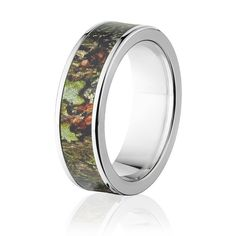 Mossy Oak Obsession Pattern 7mm Camo Ring for Him