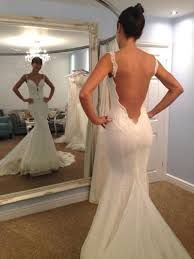 Image result for low back sexy lace mermaid wedding dress