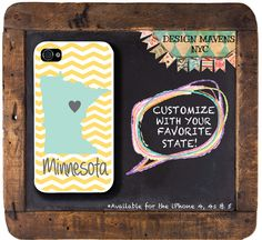 Personalized iPhone Case State Love Minnesota by DesignMavensNYC, $16.99