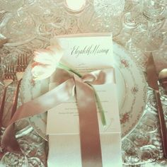 Elizabeth Messina's place setting