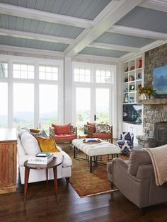 Rustic meets cozy meets chic in this living room #hgvmagazine http://www.hgtv.com/decorating-basics/smart-shopping-and-decorating-ideas/pictures/page-9.html?soc=pinterest