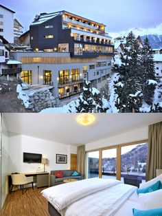 The brand new Alfa Hotel in Serfaus in Tyrol's largest ski area Serfaus-Fiss-Ladis presents itself young and innovative, but with tradition. Design Hotel, Austria, Skiing, Traditional, Mansions, House Styles, Home Decor, Ski, Mansion Houses