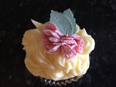 Carnation topped cupcake...