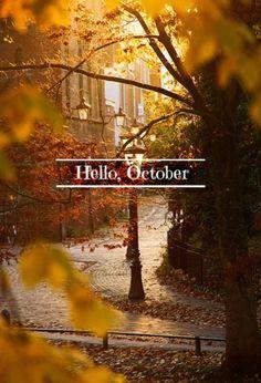Favorite month. Everything always seems best in October.