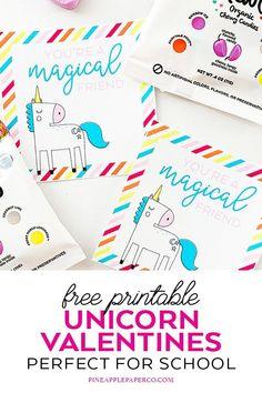 Free Unicorn Printable Valentine Cards - Pineapple Paper Co. Unicorn Valentine Cards, Valentines Diy, Printable Valentine, Free Printable Art, Free Printables, Monogrammed Stationery, Unicorn Printables, Papers Co, Printable Invitations