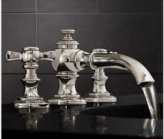 Love this faucet from Restoration Hardware - Lugarno series in polished chrome