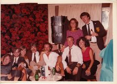 Left to right-Lionel (drummer), Mike, Billy (photog), Phil (DJ), Clive (casino), Anna (casino).Above - Julie (casino) and Me Amerikanis August 1979