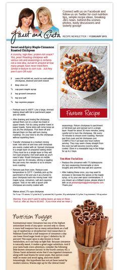 Sweet & Spicy Maple - Cinnamon Roasted Chickpeas