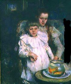 Walter Frederick Osborne paintings, Goldfish in Painting