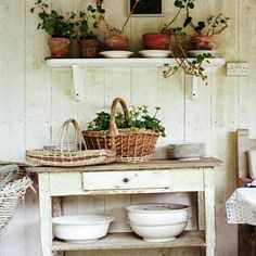 Potting bench...I need one of these.