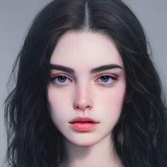 Digital Art Girl, Digital Portrait, Aesthetic Women, Aesthetic Girl, Character Portraits, Character Art, Prety Girl, Anime Scenery Wallpaper, Anime Art Girl