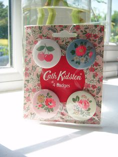 Cath Kidston Badges by innocentcharmer, via Flickr