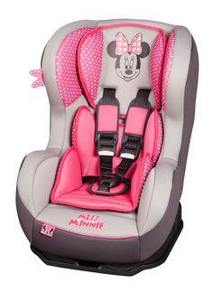 Disney autostoeltje met leuk Minnie Mouse design. Geschikt voor kinderen van 0 tot ongeveer 4 jaar.  meer info op www.babyenkindoutlet.nl