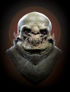 Monster head, Jason Martin on ArtStation at https://www.artstation.com/artwork/0r6Q4