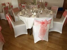 Beautiful Coral colour scheme at West Tower Hotel in Ormskirk. We loved dressing this wedding.
