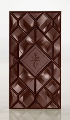 """Portland-based designer Adam Gill created this stunning chocolate bar design and also worked on the packaging, in collaboration with SocioDesign. """"The design was inspired by… Custom Chocolate, Chocolate Shop, Chocolate Bark, Chocolate Gifts, Chocolate Molds, Best Chocolate, Chocolate Lovers, Choclate Lab, Chocolate Designs"""