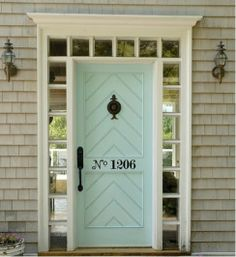 house numbers on front door | House Numbers Spelled Out